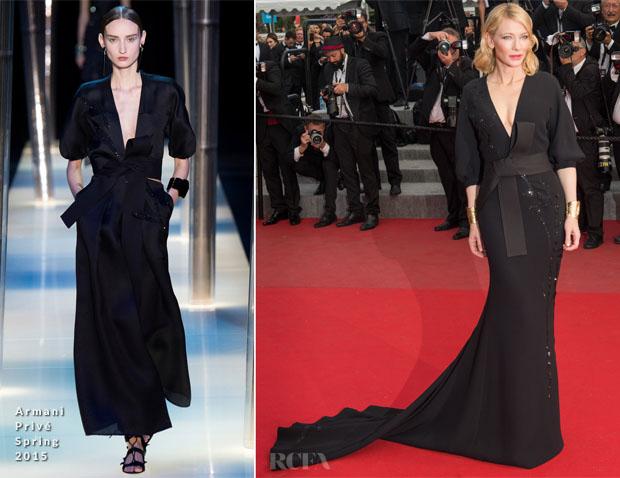 Cate Blanchett In Armani Privé - 'Sicario' Cannes Film Festival Premiere