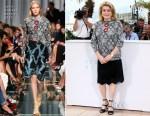 Catherine Deneuve In Louis Vuitton - 'La Tete Haute ('Standing Tall') Cannes Film Festival Photocall