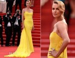 Charlize Theron In Christian Dior Couture - 'Mad Max: Fury Road' Cannes Film Festival Premiere