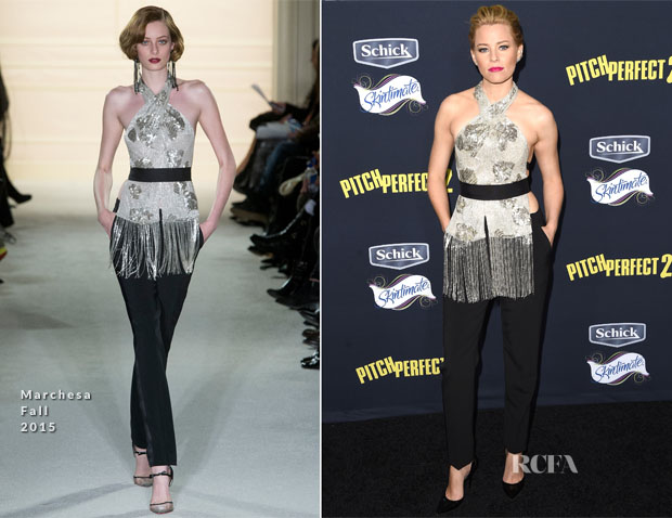 Elizabeth Banks In Marchesa - 'Pitch Perfect 2' LA Premiere