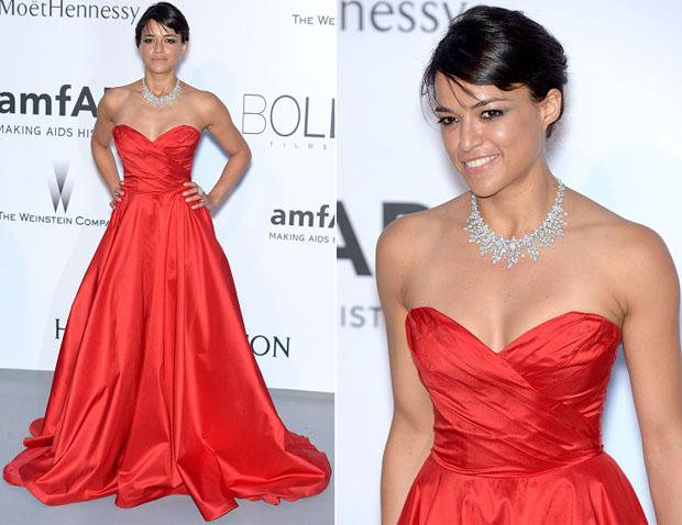 Michelle Rodriguez In Romona Keveza - 2015 amfAR Cinema Against AIDS Gala