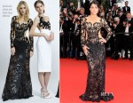 Michelle Rodriguez In Zuhair Murad -  'Mad Max: Fury Road' Cannes Film Festival Premiere