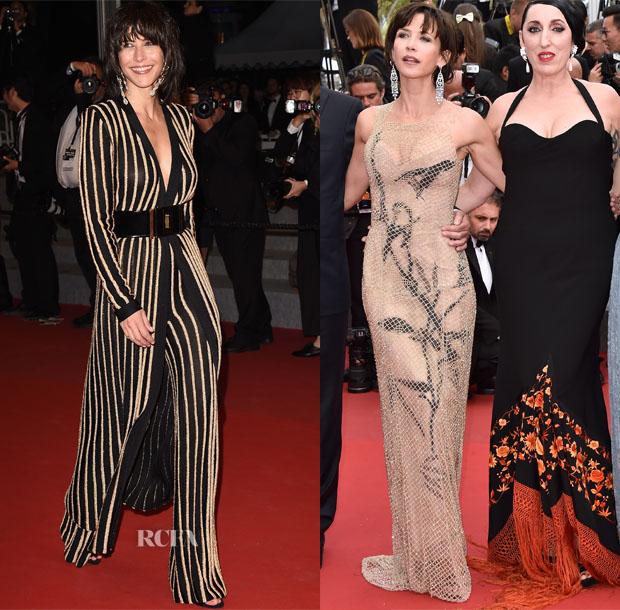 Sophie Marceau In  Balmain & Armani Privé - Cannes Film Festival Red Carpet Roundup
