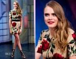 Cara Delevingne In Dolce & Gabbana -  'El Hormiguero' TV Show