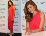 Eva Mendes In Halston Heritage - Estee Lauder New Dimension Skincare Launch