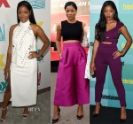 Keke Palmer In Mugler, A.L.C.,  Solace London &  Edition by Georges Chakra - Comic-Con 2015