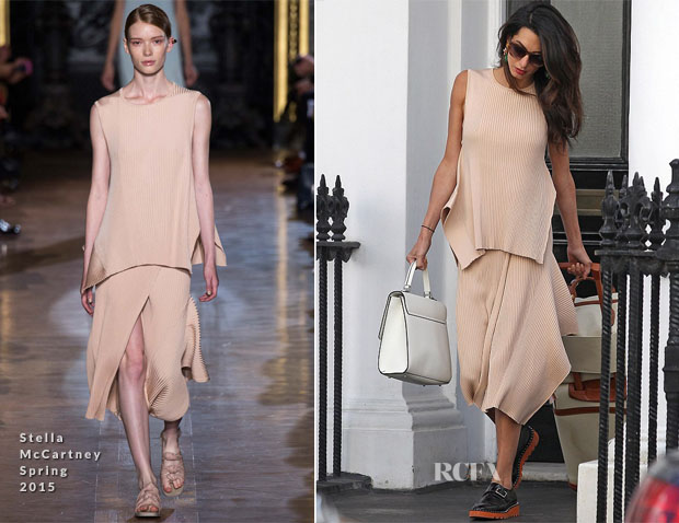 Amal Clooney In Stella McCartney - Out In London