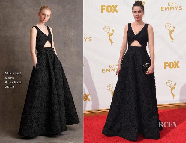Amanda Peet In Michael Kors - 2015 Emmy Awards