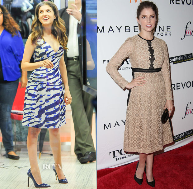 Anna Kendrick In Prabal Gurung & Burberry Prorsum - 'Good Morning America' & The Daily Front Row's Third Annual Fashion Media Awards