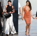 Lea Michele In Alice + Olivia & Bec & Bridge - Jimmy Kimmel Live