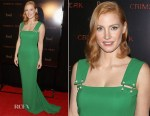 Jessica Chastain In Lanvin - 'Crimson Peak' New York Premiere