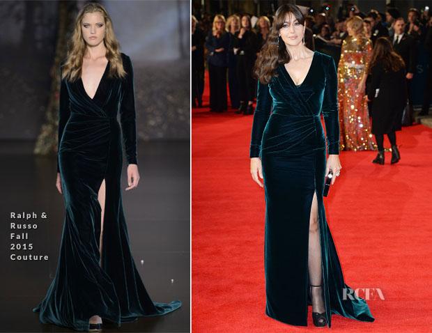Monica Bellucci In Ralph & Russo F 15 Couture - 'Spectre' London Premiere