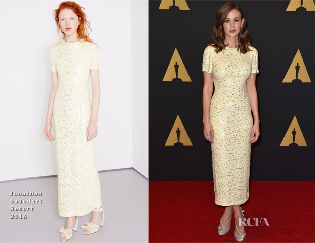 Carey Mulligan In Jonathan Saunders - Academy Of Motion Picture Arts And Sciences' 7th Annual Governors Awards