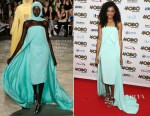 Corinne Bailey Rae In Christian Siriano - 2015 MOBO Awards