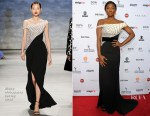 Patina Miller In Bibhu Mohapatra -  43rd International Emmy Awards
