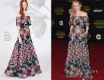 Elizabeth Banks In Elie Saab - 'Star Wars: The Force Awakens' LA Premiere