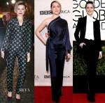 Evan Rachel Wood In Alberta Ferretti, Jonathan Simkhai & Alturazza - W Magazine Party, BAFTA Tea Party & Golden Globe Awards