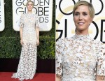 Kristen Wiig In Reem Acra - 2017 Golden Globe Awards
