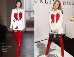 Celine Dion In Schiaparelli Couture - The Celine Dion Collection Launch