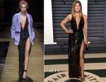 Jennifer Aniston In Atelier Versace - 2017 Vanity Fair Oscar Party