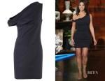 Kim Kardashian's Balenciaga fitted black dress