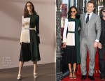 Zoe Saldana In Prabal Gurung & Chris Pratt In Tom Ford - Hollywood Walk of Fame Star Ceremony