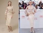 Lily Collins In Johanna Ortiz - 'Okja' Cannes Film Festival Photocall