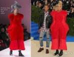 Pharrell Williams & Helen Lasichanh In Comme des Garçons - 2017 Met Gala