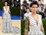 Ruby Rose In Burberry - 2017 Met Gala
