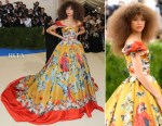 Zendaya Coleman In Dolce & Gabbana Alta Moda Couture - 2017 Met Gala