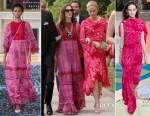 Anne Hathaway In Valentino & Emily Blunt In Peter Pilotto - Jessica Chastain & Gian Luca Passi de Preposulo's Wedding