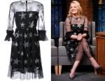 Elisabeth Moss' Huishan Zhang star sequined dress