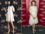 Emily Browning In Orla Kiely -  SAG-AFTRA Foundation's Conversations With 'American Gods'