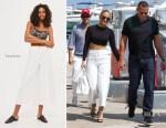 Jennifer Lopez In Naked Wardrobe & Topshop - Out In Nice