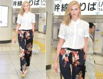 Karlie Kloss Sighting In Tokyo Wearing Equipment & Dries van Noten