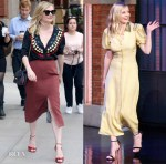 Kirsten Dunst In Marco de Vincenzo & Bottega Veneta - Out In New York & Late Night with Seth Meyers