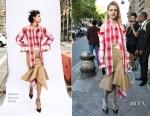Natalia Vodianova In Monse - Berluti Menswear Spring 2018 Show