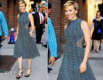 Scarlett Johansson In Proenza Schouler  -The Late Show with Stephen Colbert
