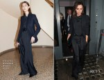 For Brooklyn Beckham's 'What I See' private view & book launch, it was back to black for Victoria Beckham
