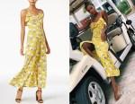Jasmine Tookes' J.O.A. Printed Maxi Dress