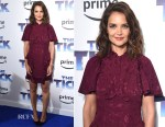 Katie Holmes In Maison Mayle - 'The Tick' Blue Carpet Premiere