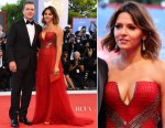 Matt and Luciana Damon In Versace and Atelier Versace - 'Downsizing' Venice Film Festival Premiere