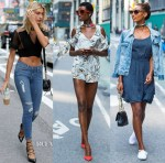The Victoria's Secret casting serves up some lusty-worthy street style looks