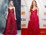 Jessica Chastain In Zuhair Murad - 'Woman Walks Ahead' Toronto Film Festival Premiere