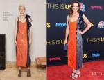Mandy Moore In Rosie Assoulin - 'This Is Us' Season 2 Premiere