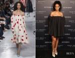Rihanna In Calvin Klein 205W39NYC - Sephora Hosts 'Fenty Beauty By Rihanna'