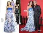 Amal Clooney In Bill Blass - 'Suburbicon' LA Premiere
