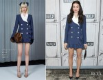 Crystal Reed In Alessandra Rich -  Build Series Presents: 'Gotham'
