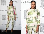 Laura Harrier In Calvin Klein by Appointment - Bvlgari Flagship Store Reopening