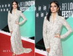 Malavika Mohanan In Anamika Khanna  - 'Beyond The Clouds' London Film Festival Premiere